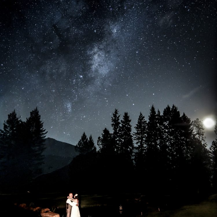 Auburn Bay family photographer, family portraits Calgary night portrait astrophotography
